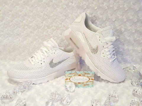 How a custom bling Nike Air Max 90 white shoes can help you stand out   148ed309e2f5