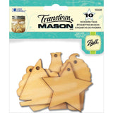 Summer Holiday (10 Pack) Mason Wooden Tags (EPDCF1220) - TheDecoKraft - 1