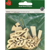Foliage (10 Pack) Assorted Wood Shapes by Lara's Crafts (TDKCF1229) - TheDecoKraft