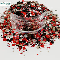 Casino Mixed Chunky Glitter, Polyester Glitter for Tumblers Nail Art Bling Shoes - 1oz/30g