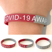 COVID-19 Awareness Wristband Silicone Bracelet