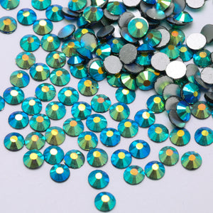 SS30/6mm Montana Blue AB Glass Round Flat Back Loose Rhinestones - 288pcs