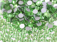 SS34/7mm Light Peridot Glass Round Flat Back Loose Rhinestones - 288pcs