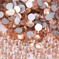 SS30/6mm Champagne Glass Round Flat Back Loose Rhinestones - 288pcs