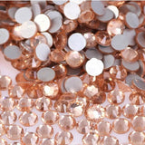 SS16/4mm Champagne Glass Round Flat Back Loose Rhinestones - 1440pcs