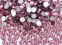 Amethyst Purple Crystal Glass Rhinestones - SS16, 1440 pieces - 4mm Flatback, Round, Loose Bling - TheDecoKraft - 1
