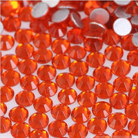 Orange Crystal Glass Rhinestones - SS34, 288 pieces - 7mm Flatback, Round, Loose Bling - TheDecoKraft - 1
