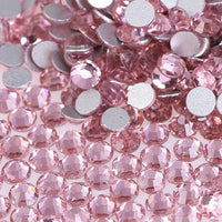 Light Rose Pink Glass Crystal Glass Rhinestone - SS12, 1440 pieces - 3mm Flatback, Round, Loose Bling (TDK-GR1345) - TheDecoKraft - 1