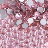 Light Rose Pink Crystal Glass Rhinestones - SS34, 288 pieces - 7mm Flatback, Round, Loose Bling (TDK-GR1318) - TheDecoKraft - 1