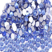 Light Blue Crystal Clear Glass Rhinestones - SS34, 288 pieces - 7mm Flatback, Round, Loose Bling - TheDecoKraft - 1