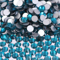 Dark Aquamarine Crystal Clear Glass Rhinestones - SS34, 288 pieces - 7mm Flatback, Round, Loose Bling - TheDecoKraft - 1