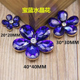 20mm Bling Flower Rhinestone & Crystal Gold Bling Cabochon Alloy Metal Decoden DIY Phone Accessory TDK-B1122