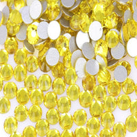 Citrine Yellow Crystal Glass Rhinestones - SS30, 288 Pieces - 6mm Flatback, Round, Loose Bling - TheDecoKraft - 1