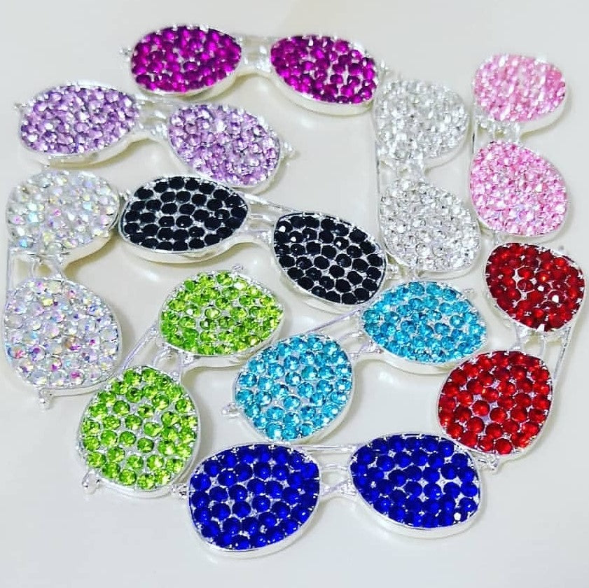 online store 426ec 0423c 1 Piece Sunglasses Flatback Rhinestone Silver Decoden Alloy Bling Cabochon  DIY Phone Case Charm Accessories