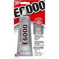 E6000 Clear Multipurpose Industrial Strength Adhesive - 3.7 oz./109.4ml
