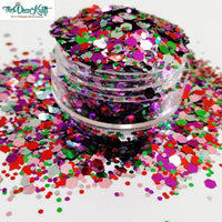 Chunky13 Mixed Chunky Glitter, Polyester Glitter for Tumblers Nail Art Bling Shoes - 1oz/30g