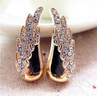2 Piece Gold Alloy Wing Set with Rhinestones Bling Decoden Cabochon DIY Phone Accessory (TDK-B1161)