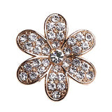 Flower Gold Rhinestone Bling Cabochon Alloy Metal Decoden (TDK-B1014)