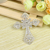 Cross Rhinestone Silver Alloy Cell Phone Decoration Flatback Decoden