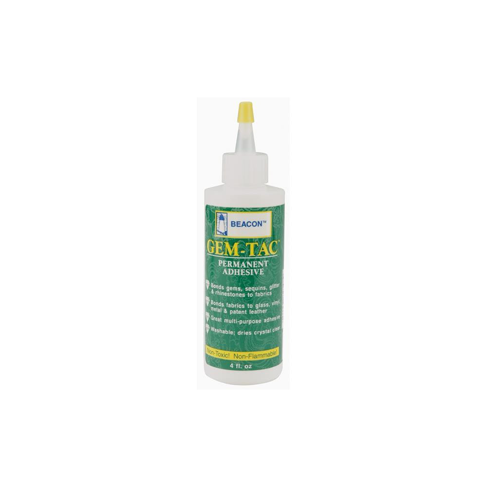 Gem-Tac Permanent Adhesive 4 oz./118.5ml (TDKCF1084) - TheDecoKraft