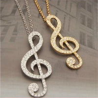1 Piece Music Musical Note Crystal Rhinestone Bling Gold Flatback Decoden Cabochon DIY Phone Case Charm Accessories