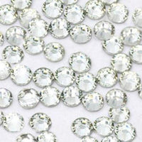 6mm Clear Resin Round Flat Back Loose Rhinestones