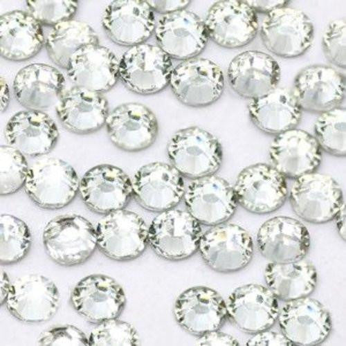 4mm Crystal Clear Round Flatback Loose Resin Rhinestones