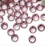 4mm Light Pink Resin Round Flat Back Loose Rhinestones