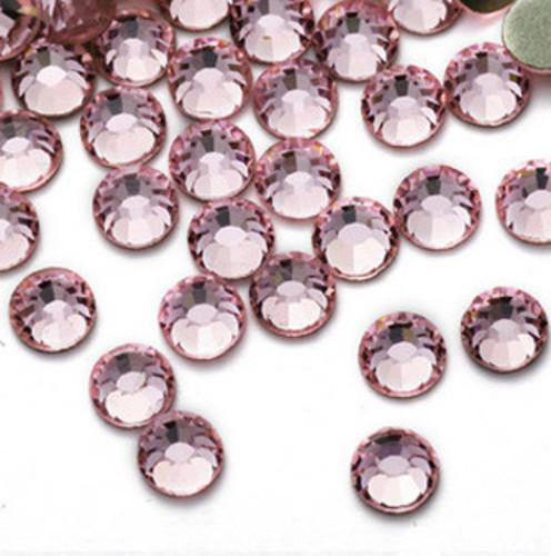 6mm Light Pink Resin Round Flat Back Loose Rhinestones