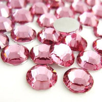 4mm Pink Resin Round Flat Back Loose Rhinestones