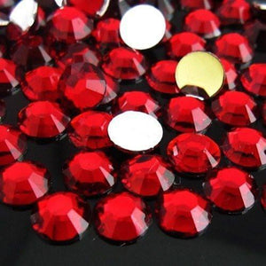 2-6mm Mixed Dark Siam Resin Round Flat Back Loose Rhinestones