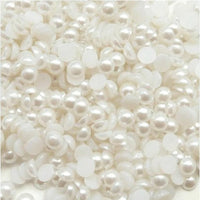 7mm White Flatback Half Round Pearls - BULK 2,000 pieces - Loose, Bling, Nail Art, Decoden TDK-P015.3 WHOLESALE - TheDecoKraft - 1