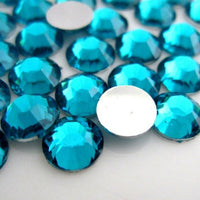 4mm Dark Aqua Resin Round Flat Back Loose Rhinestones