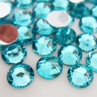 4mm Aqua Resin Round Flat Back Loose Rhinestones