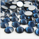 2mm Montana Blue Resin Round Flat Back Loose Rhinestones