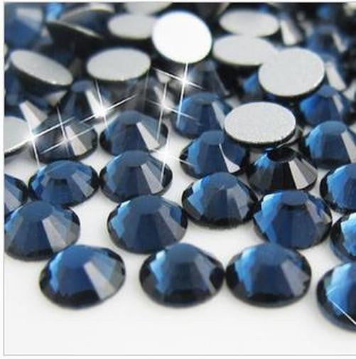 6mm Navy Montana Blue Resin Round Flat Back Loose Rhinestones