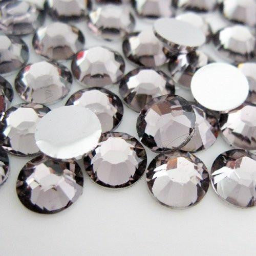 2mm Gray Resin Round Flat Back Loose Rhinestones