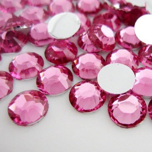 2mm Light Rose Resin Round Flat Back Loose Rhinestones