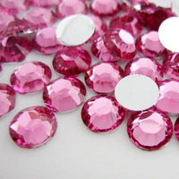 4mm Light Rose Resin Round Flat Back Loose Rhinestones