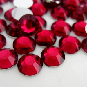 6mm Rose Resin Round Flat Back Loose Rhinestones