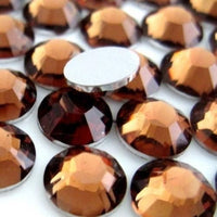 4mm Coffee Resin Round Flat Back Loose Rhinestones