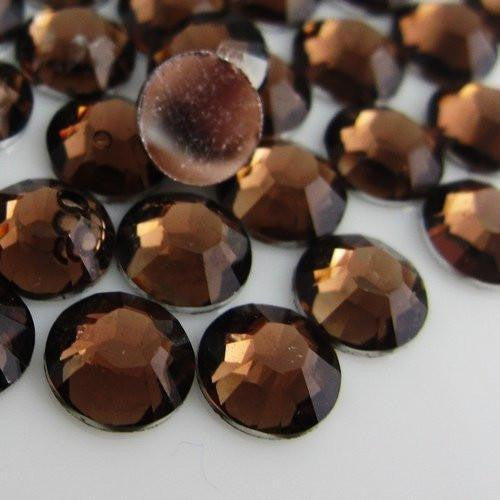 4mm Dark Coffee Resin Round Flat Back Loose Rhinestones