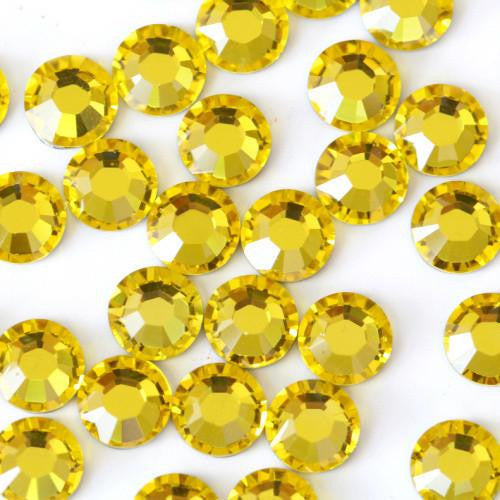 2mm Yellow Resin Round Flat Back Loose Rhinestones
