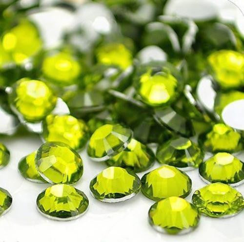 6mm Olive Green Resin Round Flat Back Loose Rhinestones