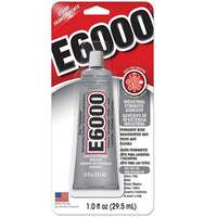 E6000 Clear Multipurpose Industrial Strength Adhesive - 1 oz./29.5ml
