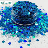 Bahamian Waters Mixed Chunky Glitter, Polyester Glitter for Tumblers Nail Art Bling Shoes - 1oz/30g