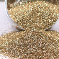 Light Gold Extra Fine Glitter, Shiny Metallic Glitter, Polyester Glitter - 1oz/30g