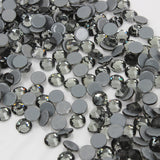 SS16/4mm Black Diamond Gray Glass Round Flat Back Loose HOTFIX Rhinestones - 1440pcs