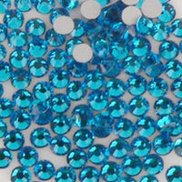 4mm Blue Resin Round Flat Back Loose Rhinestones