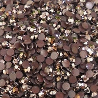2mm Bronze Jelly Round Flat Back Loose Rhinestones